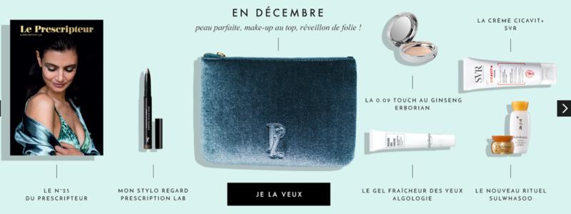 Bon plan beauté : la box de beauté de décembre