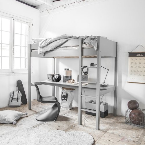 Wonder mum en a ras la cape – Meubles et déco – sélection Petite Amélie Lit mezzanine avec bureau